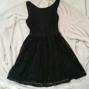 Black midi lace dress size S